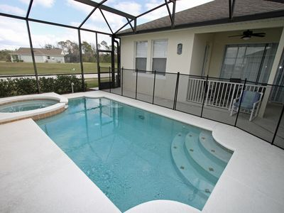 Pool and patio.