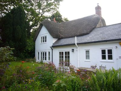 17th Century detached Thatch Cottage in rural Dorset, beautiful garden