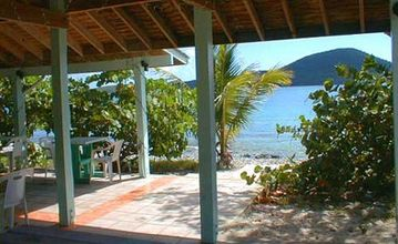 The Tamarindo beach-house. Just walk in to resort's private snorkeling beach.