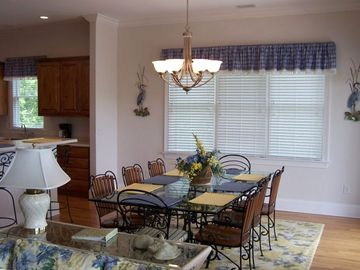 Dining Area for 8 plus 6 additional counter seats
