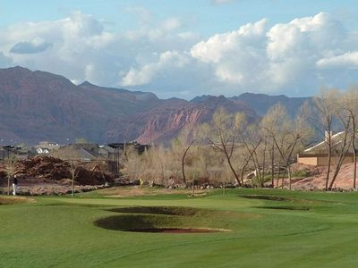 Closer View of 5th Green and Snow Canyon beyond