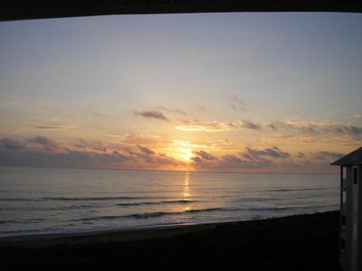 Sunrise from our balcony.  Best view in Spoonbill.