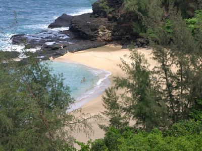 Romantic Lumaha'i Cove Beach, only 1 mile away
