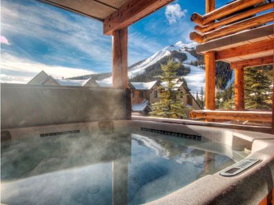 6 Person Private Hot Tub with Views of Lone Peak