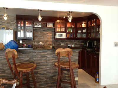 Newly remodeled kitchen and bar