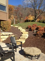 Galena house photo - Side yard and fire pit