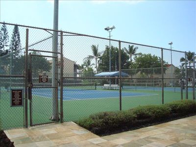 3 night lit tennis courts with brand new surface