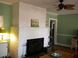 Tybee Island cottage photo - Woodburning fireplace
