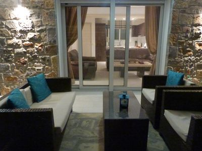 Private 2 bedroom villa with small pool in the centre of Elounda