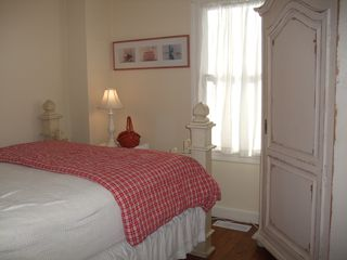 Madequecham house photo - Queen bedroom with top of the line mattress and charming armoire
