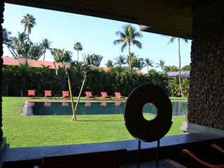 Lahaina condo photo - View of the saltwater pool from the pavilion