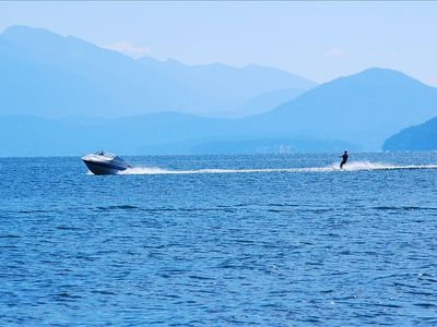 Sandpoint house rental - Bring or rent a boat: ski, wakeboard, tube, fish right outside your front door.