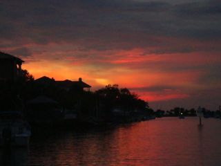 Hernando Beach house photo - The sunset on the main canal in Hernando Beach