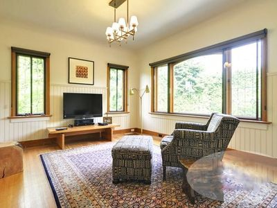 Den/Family room: an 8ft Italian leather sofa has been added to this great space.