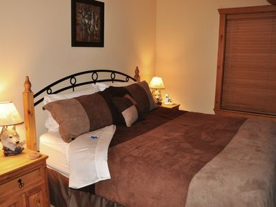 Branson West condo rental - King size plush bed will induce a good night's rest
