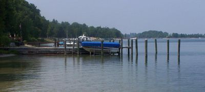 East Jordan cottage rental - Deep water dock