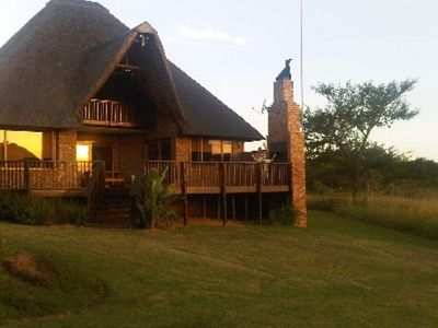 Swagat at Kruger Park Lodge at dusk