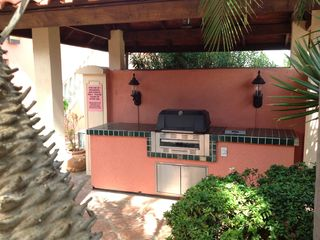 Common barbecue grill area.