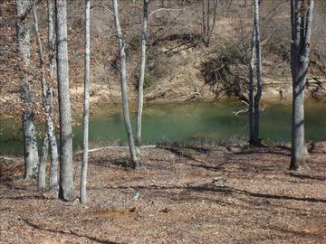 Rutherfordton cabin rental - View of the Green River from the Deck.