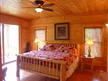 Master King Suite! View looks onto lake and mountains.