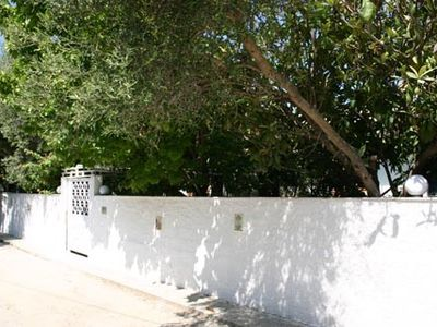 Megara villa rental - Entrance Gate and External Wall