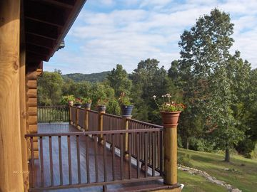 The rich mahogany decking surrounding the Lodge extends for 2000 sq. ft.
