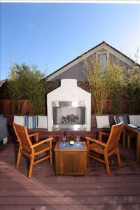 Relax in your private outdoor space at the end of a fun filled day