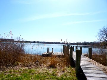 The private community dock at West Neck Harbor is there for your use.