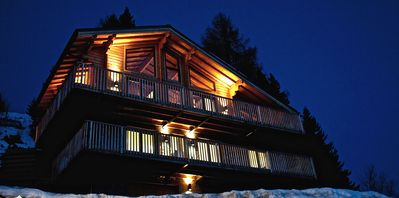 Generous accommodation in this superior family chalet with panoramic views