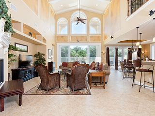 Ormond Beach house photo - Our beautiful living room has a relaxed club atmosphere