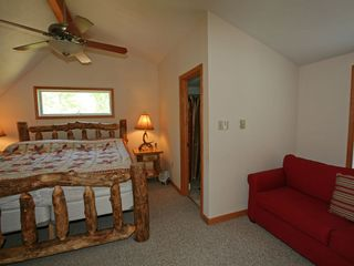 Towamensing Trails chalet photo - Bedroom 4 Master Bedroom with Queen Bed and Sitting Area