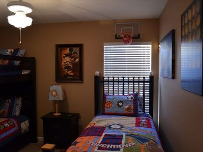 Upstairs Sports kids room