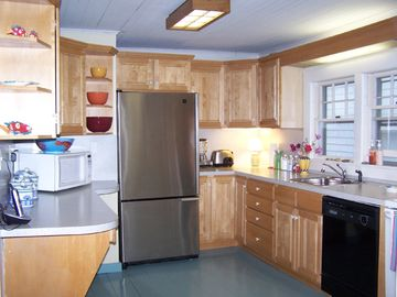 Spacious fully-stocked kitchen has absolutely everything ~ two sets of dishes!