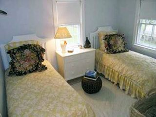 Siasconset house photo - Third Bedroom - 2 Twin Beds - Seperated by Dresser - additional chest w/ TV