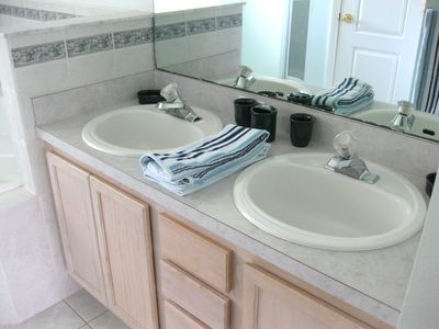 His and hers vanity