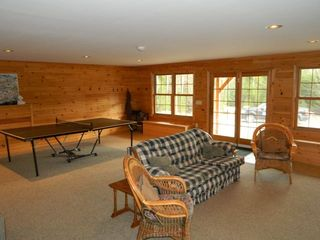 Carrabassett Valley house photo - Enjoy ping pong, large screen T.V. games and more!