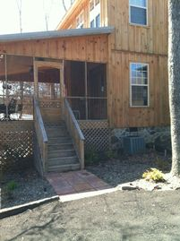 Mentone cottage rental - Your own parking and entrance to the front door of O'Pa's Retreat.