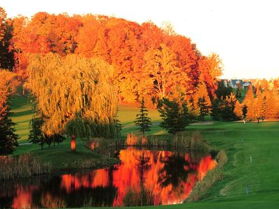 Fall Colors Blazing at the Resort.