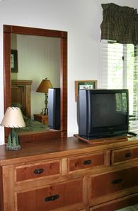 Master Bedroom dresser, mirror, and TV