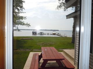 Houghton Lake cottage photo - Lake view from kitchen