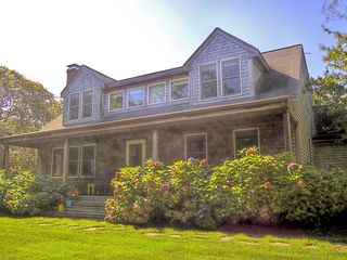 Chilmark house photo - Gorgeous front porch complete with rocking chairs!