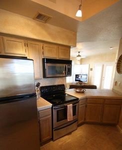Fully loaded kitchen with all appliances as well as full size washer and dryer.