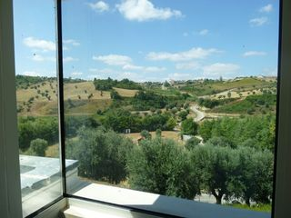 Mocarria villa photo - Fantastic view from the study on upper split level