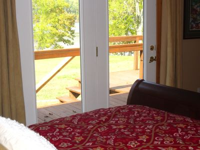 Kentucky Lake house rental - The guest room's view of the lake.