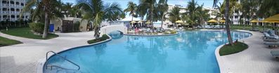 Panoramic view of pool area at Alexandra Resort
