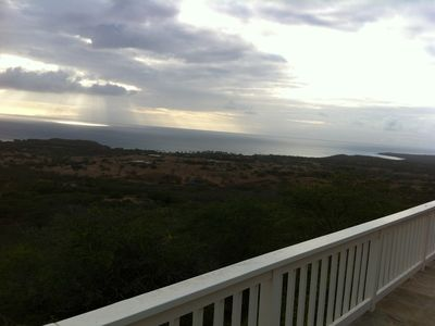 View of West Molokai and near by Papuhaku Beach and Kenani Kai resort