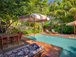 Key West house photo - The patio has an outdoor dining set for six. Perfect for balmy Key West evenings