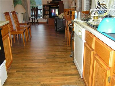New Wood Flooring on Main Level -  Full Kitchen with Dishwasher