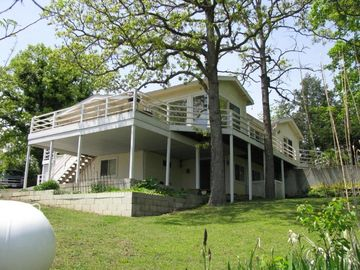 Pomme de Terre Lake house rental - View from the back yard