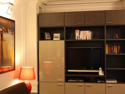 Custom built furniture with ample storage space